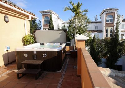Hot Tub Spa on top terrace